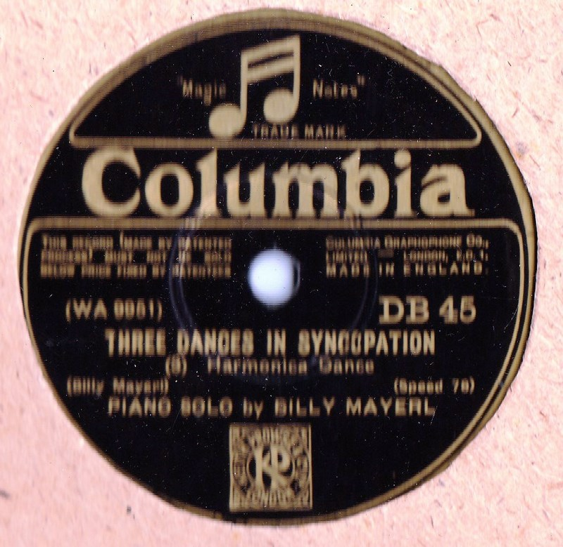 Billy Mayerl Piano - Three Dances Syncopation - Columbia DB 45